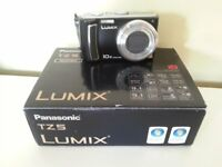 "Panasonic DMCTZ5 Digital Camera - Black (9.1MP, 10x Optical Zoom) 3.0"" LCD"
