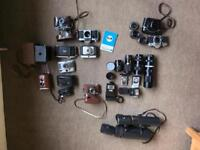 Job lot of film cameras and lenses