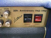 Marshall 6101 30th Anniversary 3-channel all valve 100 watt electric guitar amplifier - '92 - Blue