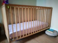 Baby Ikea Cot with mattress and bedding