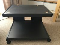 TV stand with shelf underneath in black