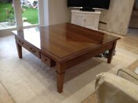 Beautiful Solid cherry wood coffee table made by Grange 1904 France.