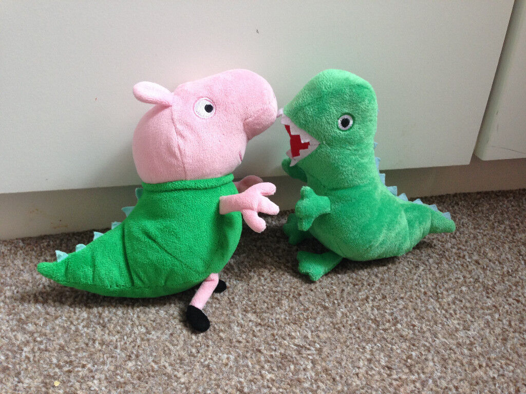 57c774c4ef4 Peppa Pig Mr Dinosaur and Ty BEANIE GEORGE IN MR DINOSAUR COSTUME SOFT Toy