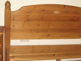 pine double bed - quality