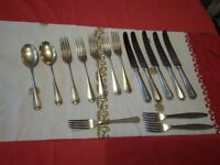 EPNS cutlery pieces from silver service sets (only got what's in photo plus two soup spoons). for sale  Manchester