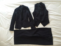 3-piece suit (jacket/vest/trousers, H&M, used, size 34 and 36, used)