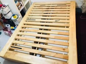immaculate IKEA double bed base with four draws