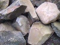 Rockery stones & boulders - free to uplift