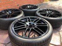 """19"""" Audi TT Le Mans Style VW Golf GTi MK4 Beetle Alloy wheels & Tyres Bora 5x100"""