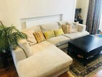 Large corner sofa by Next in light gray - used, excellent condition