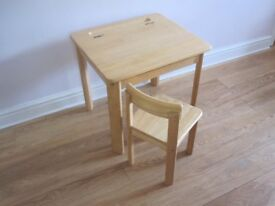 Childs Desk (John Lewis). Solid Pine in very good condition.