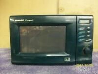 Green Microwave Oven.