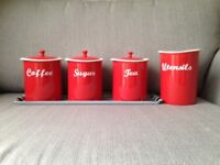 Retro kitchen canisters brand new unused
