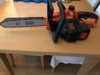 Black + decker 36 volts cordless chainsaw