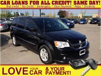 2013 Dodge Grand Caravan Crew * LEATHER * ROOF * CAM * HTD PWR S