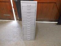 15 drawer metal tool cabinet in excellent condition