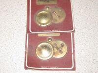 2 New Brass Escutcheon plates in original packets