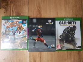 XBOX ONE games Sunset Overdrive, FIFA16, Call Of Duty