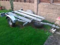 Motorcycle trailer up to 3 bikes