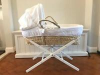 East Coast Nursery Counting Sheep Moses Basket and Stand