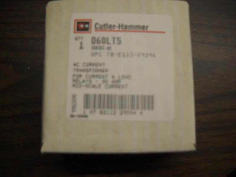 D60LT5 CUTLER HAMMER RELAY CURRENT SENSITVE TRANSFORMER