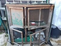 Double Rabbit Hutch For Sale