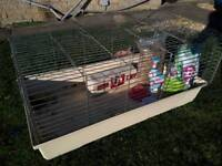 Rabbit cage with all accessories