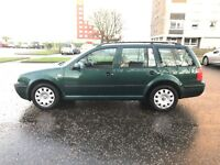 VW GOLF MK4 *ESTATE-DIESEL-1.9 TDI-6 SPEED*, MOT SEPTEMBER, FSH