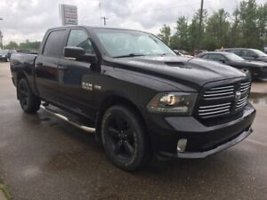 2013 Ram 1500 CREW CAB SPORT 4X4 / HEATED AND VENTED LEATHER BUC