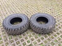 33 12.50 r15 mud terrain tyres.