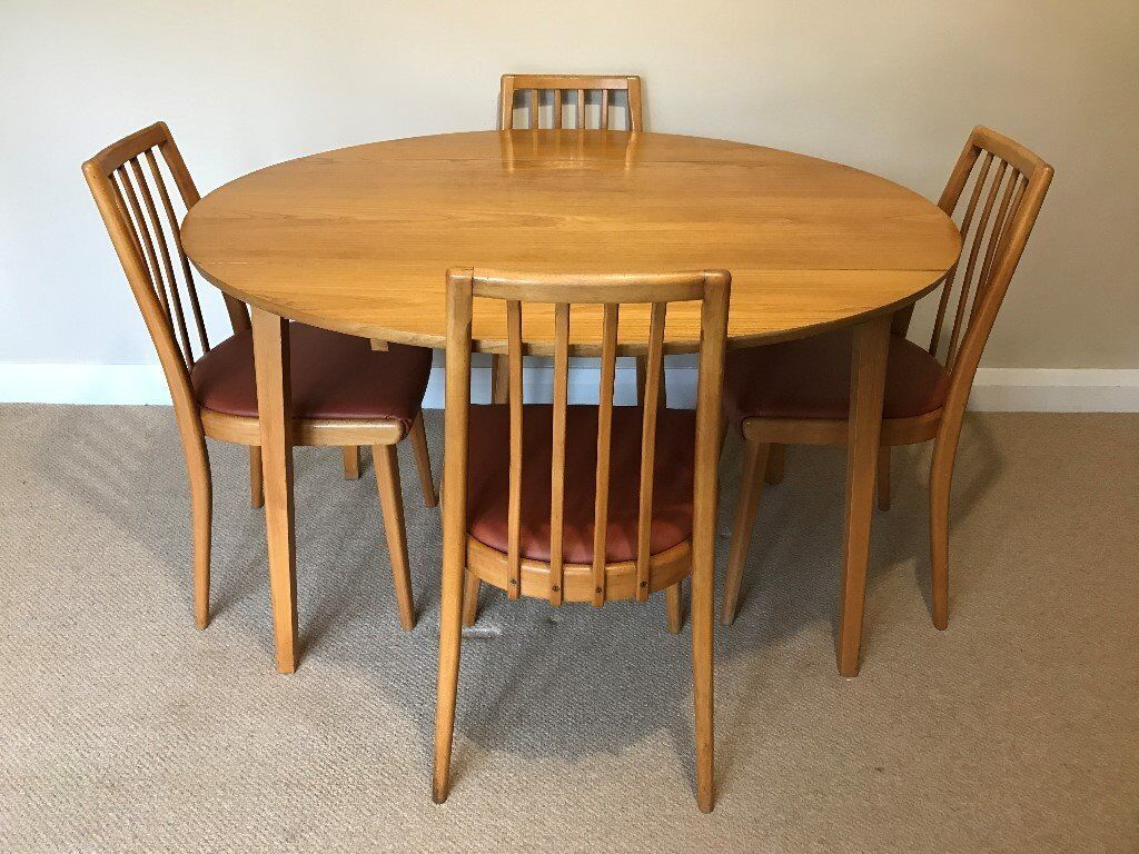 Retro 1970s Ercol Style Beech Dining Table amp 4 Matching  : 86 from www.gumtree.com size 1024 x 768 jpeg 154kB