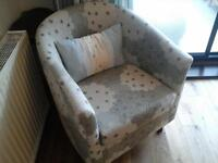 Beautiful duck egg/cream tub chair