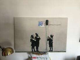 "Banksy Canvas print 30"" X 20"""