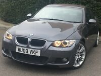 BMW 320d m sport coupe 2008 grey manual full black leathers seats long mot