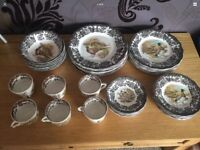 Royal Worcester palisy game series dinner/tea set and vintage Japanese China tea sets