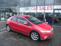 2006 06 HONDA CIVIC 1.8 EX I-VTEC 5D 139 BHP **** GUARANTEED FINANCE **** PART EX WELCOME ****