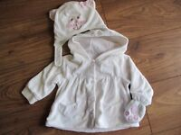 Cute Winter Coat with Cat Hat and Gloves 6-9m