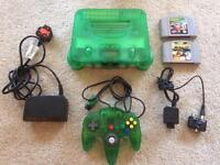 Nintendo 64 jungle green