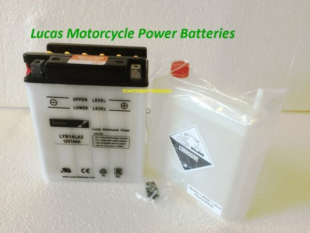 Lucas YB14LA2 (12N14-3A) Motorcycle Battery HONDA CX500 E (C) (1982-->) 500 CC