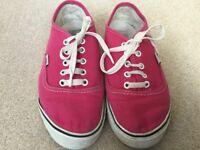 Pink VANS Size 4.5 (eu 37) - Only £3.00!