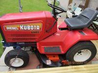 Kubota miniTractor, lawnmower , snow plough , spreader