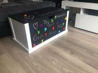 Handmade magnetic chalkboard toy box