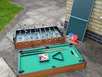 Table Top Football Table, Pool Table, Table Tennis, Hockey Multigame