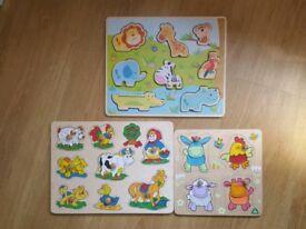 Wooden jigsaw puzzes