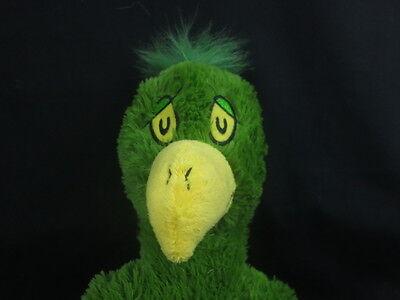 BIG DR. SEUSS BOOK OKAY AND YOU SEE GREEN BIRD YELLOW BEAK PLUSH STUFFED ANIMAL
