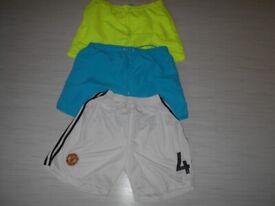3x Large Pairs Of Shorts Manutd White pair as good as new Bundle Job Lot