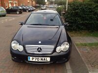 FOR SALE - MERCEDES-BENZ C CLASS DIESEL SPORTS COUPE, LADY OWNER, PRIVATE PLATE COMES WITH THE CAR