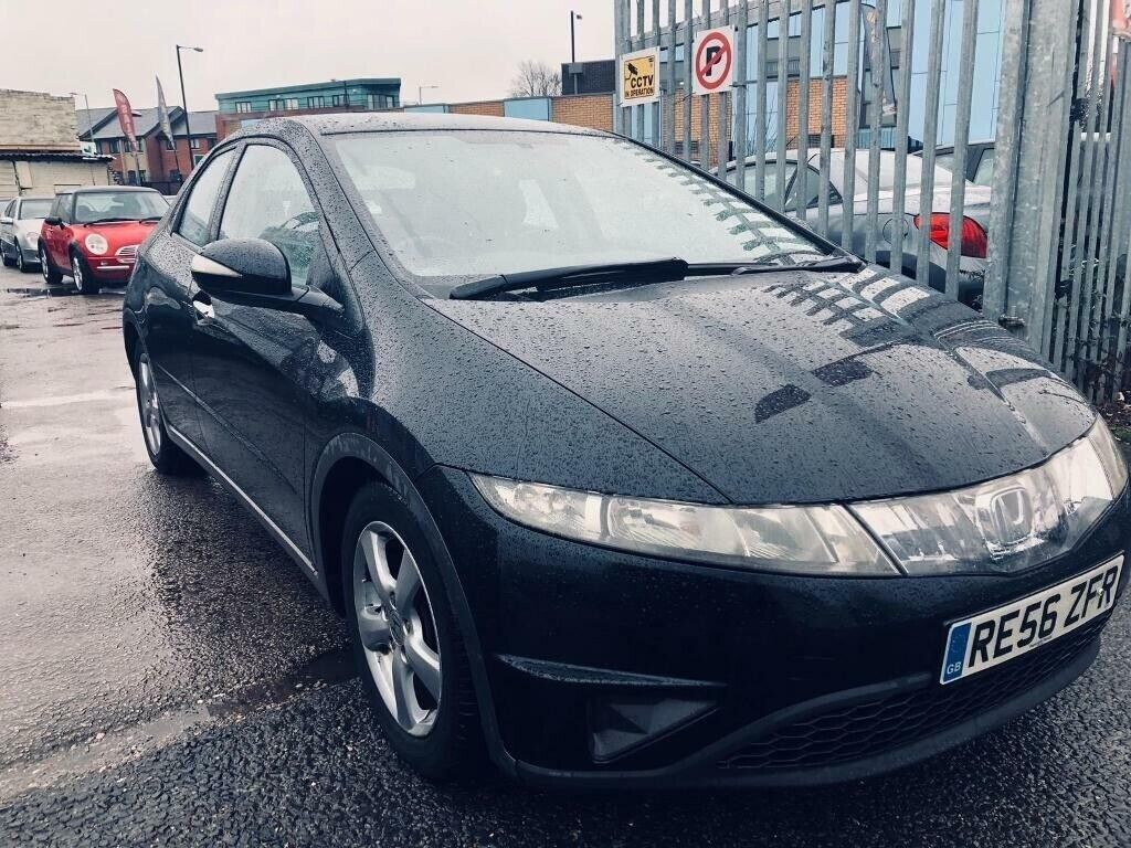 honda civic se petrol manual 1 8 5 doors hatchback black leather seats 2006  2 owners