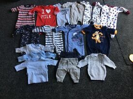 First size baby boy clothes, mainly from next and river island