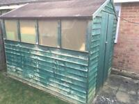 7 x7 garden shed with double doors and triple windows
